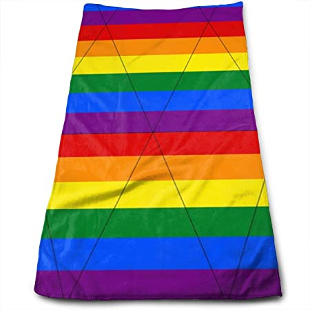 Kaixin J Gay Pride Bunting_7593 Microfiber Bath Towels,Soft ...
