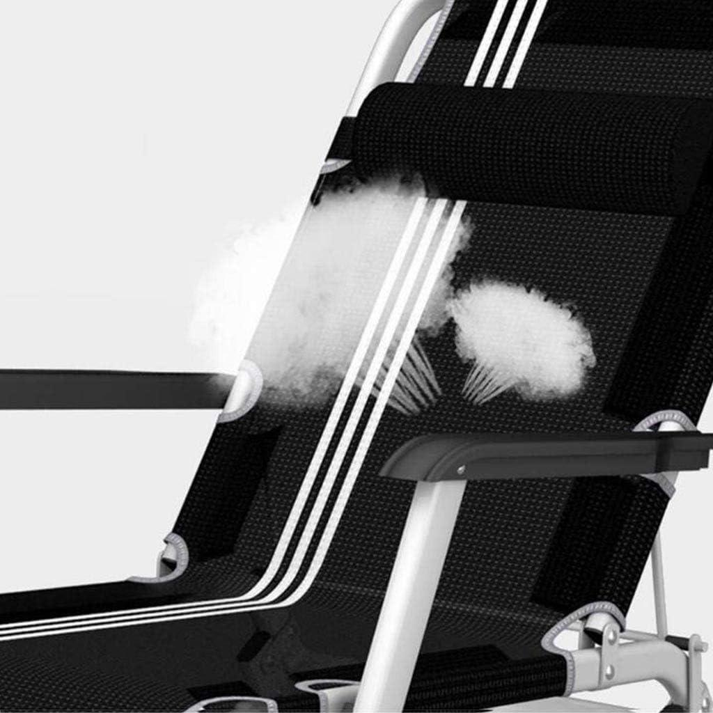 ZKORN Chaise de Bureau, Chaise Longue inclinable Pliante ménage Unique déjeuner Pause Chaise lit d\'accompagnement Chaise de Plage Portable Bureau Sieste Chaise Longue A