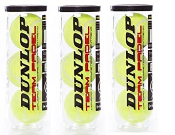 Dunlop team padel pack 3 Botes (9 pelotas): Amazon.es ...