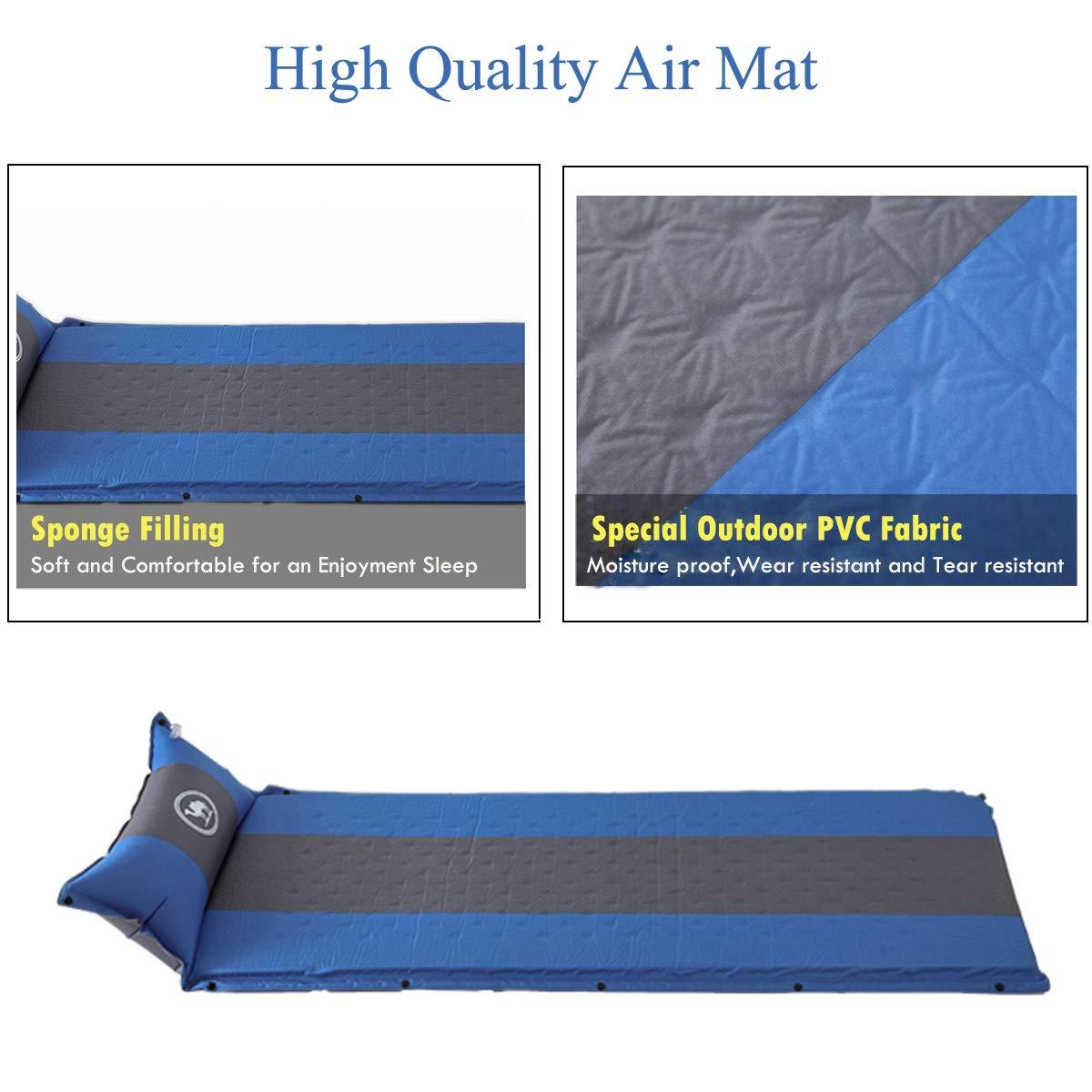 mochila compacto y a prueba de humedad para senderismo hamaca tienda de campa/ña Camel CROWN Saco de dormir autohinchable con almohada almohadillas para exteriores colch/ón hinchable para acampada