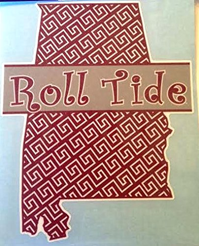 Roll Tide State of Mind Car Decal - Alabama Crimson Tide Auto Window Sticker