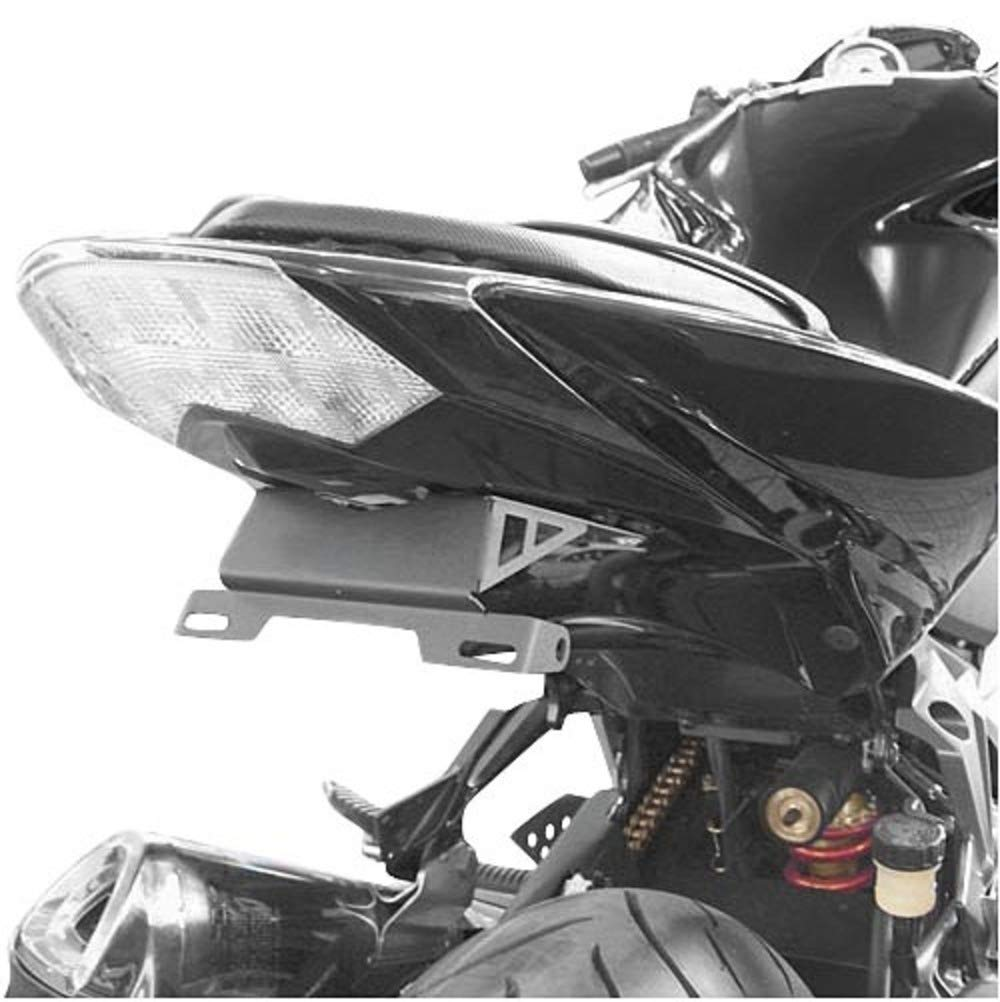 Hotbodies Racing 60801-1001 Gloss Black ABS License Plate Tag Bracket