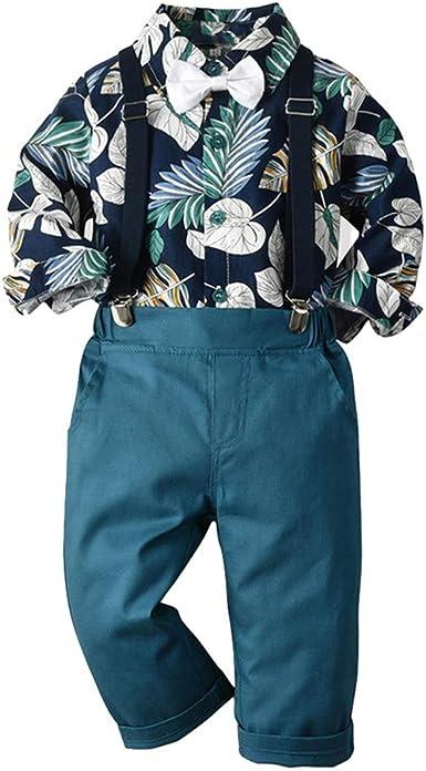 Saingace - Conjunto de Ropa Informal para bebé, niño y niño, Ropa de Navidad, Camiseta con Rayas y Pantalones, Traje de Caballero Stil E - Navy 100 cm: Amazon.es: Ropa y accesorios