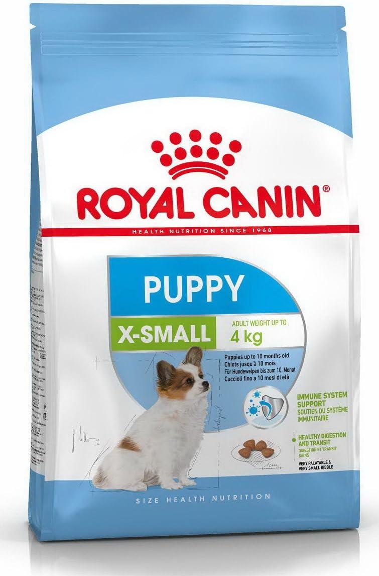 Royal Canin X-Small Junior - Comida para cachorros 0-10 meses, 0.5kg (pack de 2 x 500 gr)