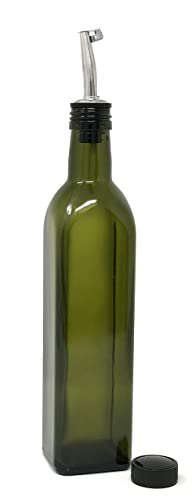 Nicebottles - Olive Oil Dispenser With Stainless Steel Flip-Top Pourer