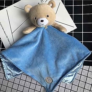 Sun Glower Toalla de Algodón Toalla de Mano Suave Consolador de bebé Juguetes Peluche Lindo Oso Toy_Blue: Amazon.es: Juguetes y juegos
