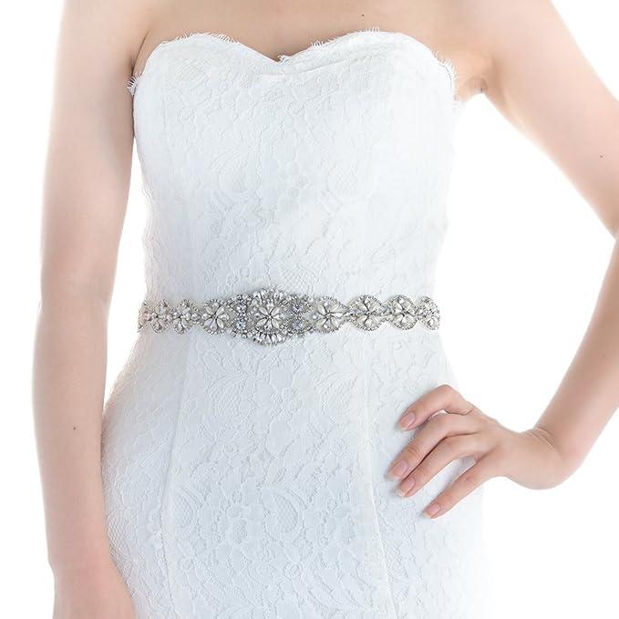 ba6f4027f4 Top Queen Women's Rhinestones Bridal Belt Bridal Sash Wedding Belts Wedding  Sash