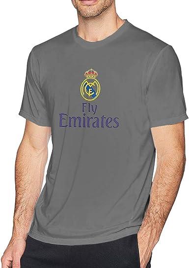 Real Madrid CF Logo de fútbol Fly Emirates Unisex Manga Corta ...