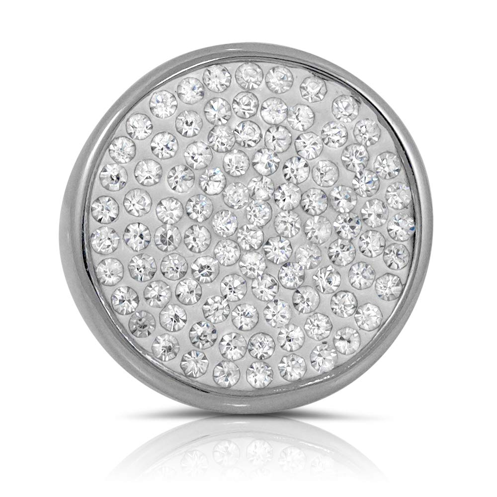 Pascollato/ÊStainless Steel Pave Set Cubic Zirconia Big Cocktail Ring