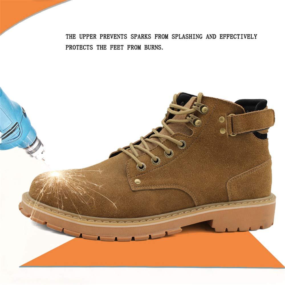 Willsky Zapatos De Seguridad para Hombres Botas De Seguridad con Punta De Acero Zapatos De Protecci/ón De Trabajo De Alta Altura Zapatillas De Deporte Industriales para Adultos,42