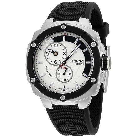 Alpina Avalancha Extreme Plata Dial correa de silicona de hombre reloj al650lsss3ae6: Amazon.es: Relojes