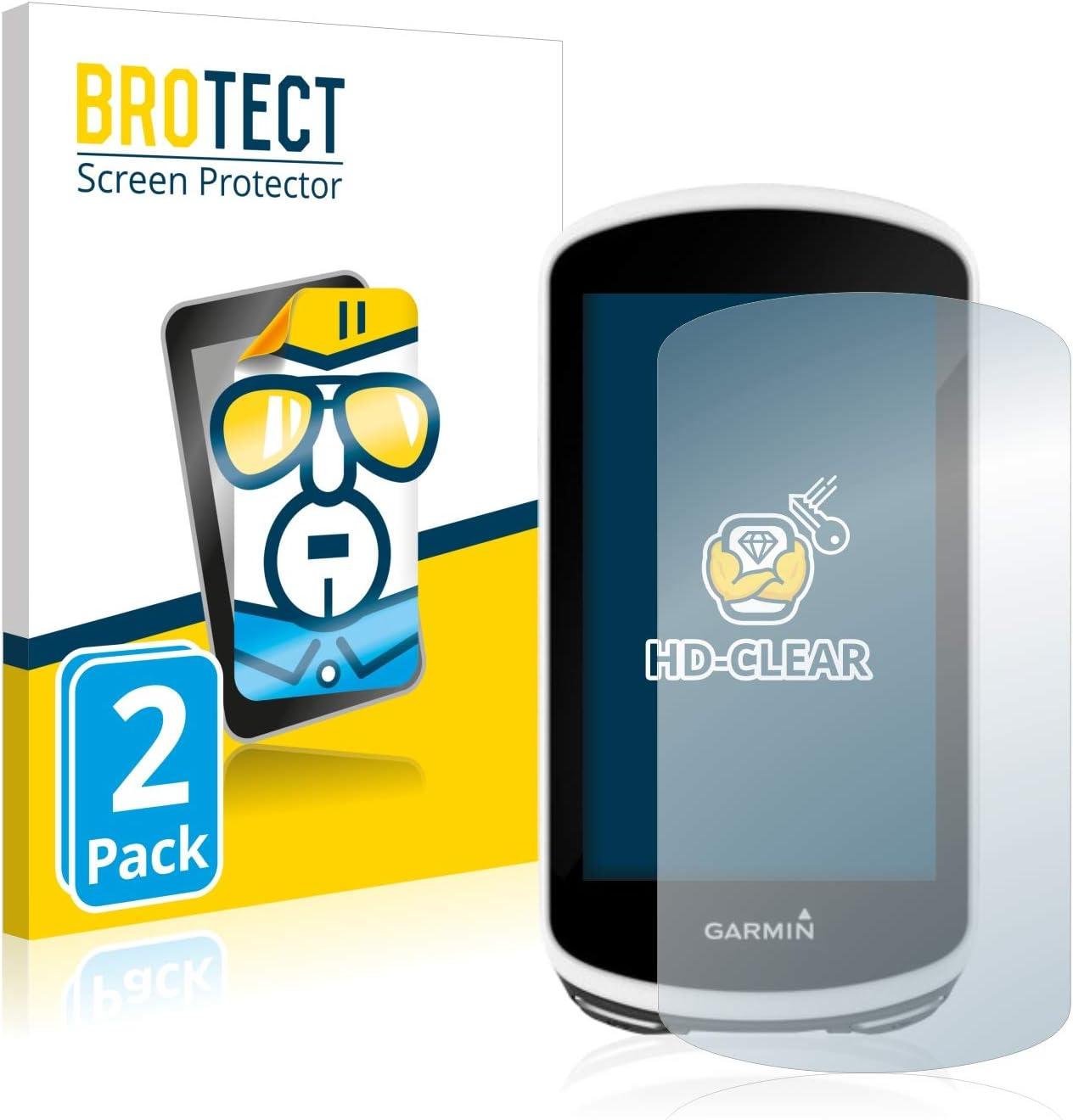 2 Pezzi BROTECT Pellicola Protettiva Compatibile con Garmin Edge 1030 - Protezione Schermo Ultra Trasparente