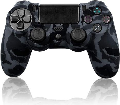 OcioDual Funda de Goma Blanda para Playstation Dualshock 4 PS4/Slim/Pro Camuflaje Militar Gris Oscura Negra Carcasa Cubierta Gel: Amazon.es: Videojuegos