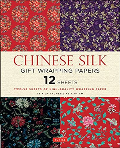 Chinese Silk Gift Wrapping Papers: 12 Sheets Of High-quality 18 X 24 Inch Wrapping Paper FB2 EPUB 978-0804845496