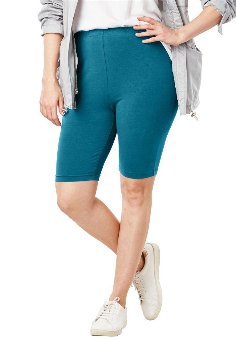 Women's Plus Size Stretch Cotton Bike Short