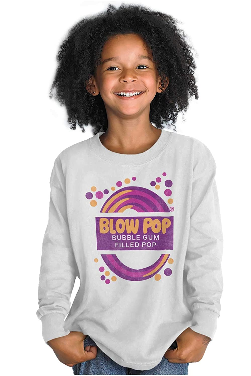 Vintage Blow Pop Bubble Gum Candy Logo Gift Youth Long Sleeve T Shirt