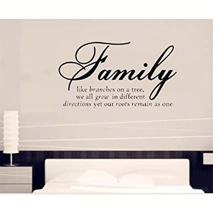 bf5ce3c73a0b 30 45cm Family Like Branches on a Tree - Quote Words Wall Sticker - Art