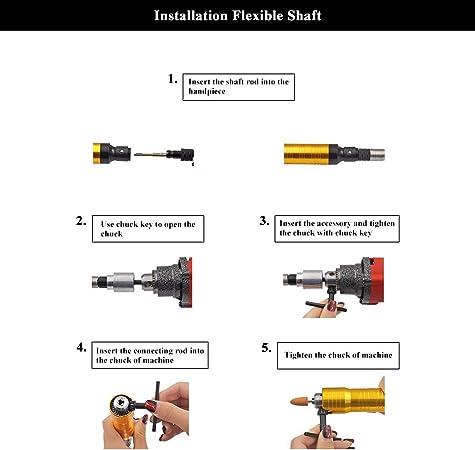 rallonge Universelle Flexible darbre Flexible Arbre Flexible pour Outil de meuleuse rotative Serrage sans cl/é de mandrin Atyhao Rallonge Arbre Flexible