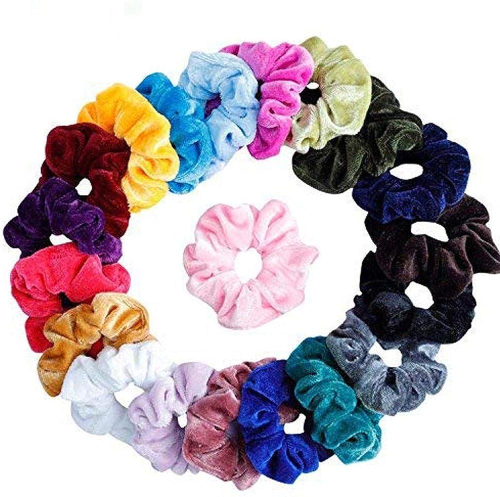 VJGOAL Gomas del pelo de Estiramiento Terciopelo Coletero Color Sólido para Mujeres Niñas Gomas pelo Mercadona 9/15/20/41/46 PC: Amazon.es: Ropa y accesorios