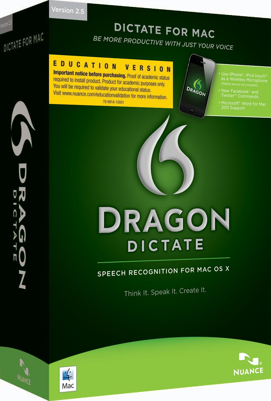 Dragon Dictate 2 5, Education Online Validation Program License (Mac)