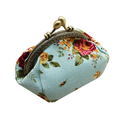 Amazon.com: Dylandy Canvas Fabric Coin Purse Creative Small ...