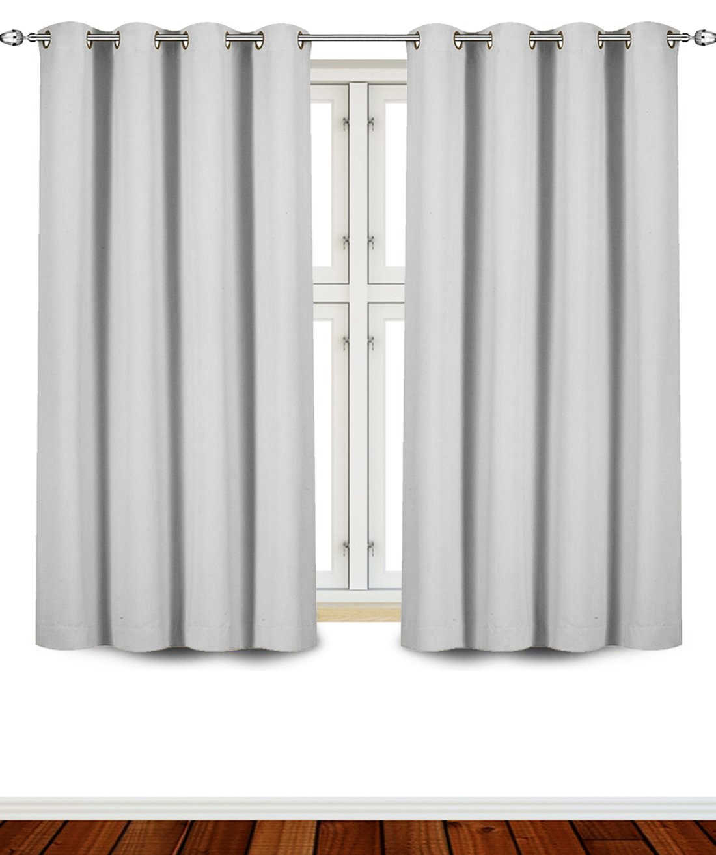 Blackout Eyelet Curtains 46 X 54 Bedroom