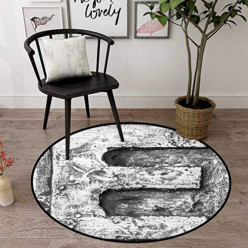 Round Floor mat Office Chair Carpet Round Indoor Floor mat Entrance Circle Floor mat for Office Chair Wood Floor Circle Floor mat Office Round mat for Living Room Pattern 1'3