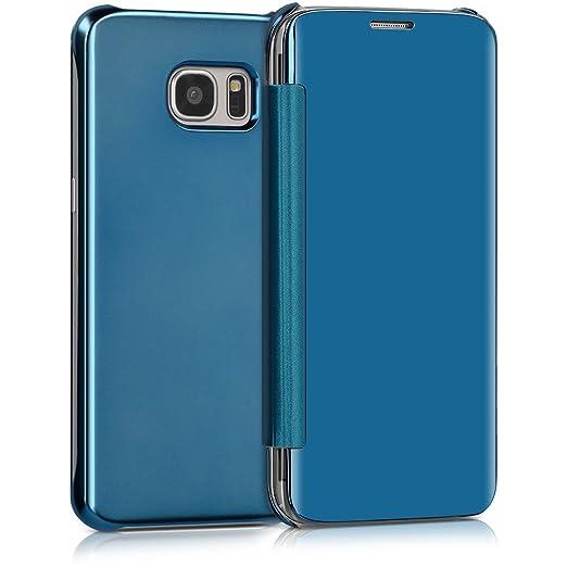 kwmobile Funda para Samsung Galaxy S7 Edge Case Espejo Estilo Libro: Amazon.es: Electrónica