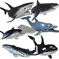 Figuras Grandes de Tiburones,Replica de Animales del Oceano Juguetes,Shark Toys,de Plastico Suave