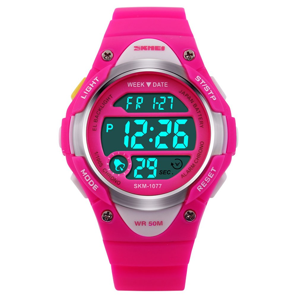 Boys Girls Multifunction Fashion Digital LED Sports Wrist Watch 50M Water Resistant Silicone Student Kids