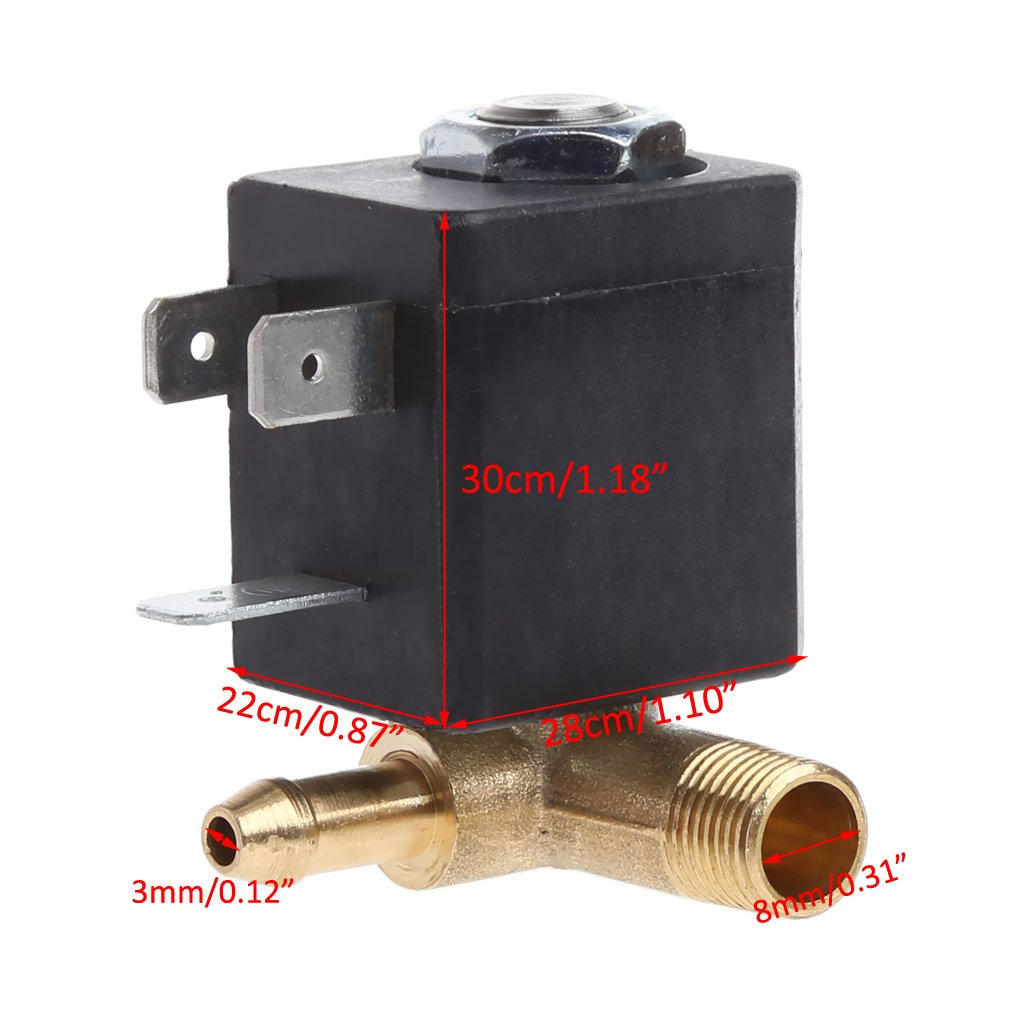 230V Luftventil f/ür Wasser Luft Manyo Magnetventil /Öl Gas 1//8,1 St/ück.