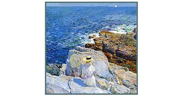 Orenco Originals Reading on The Rocks on Appledore Island Maine Childe Hassam Counted Cross Stitch Pattern