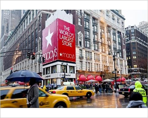 Photographic Print of Macy s flagship store on Sixth Avenue, Manhattan, New York City, New - Macy In York New Manhattan