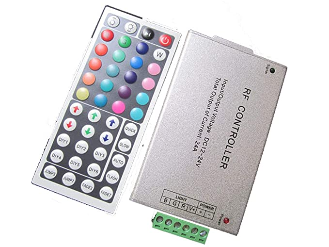 United 44 Keys Led Controller Led Ir Rgb Controler Led Lights Controller Ir Remote Dimmer Dc12v 6a For Rgb 3528 5050 Led Strip Tool Rgb Controlers Lights & Lighting