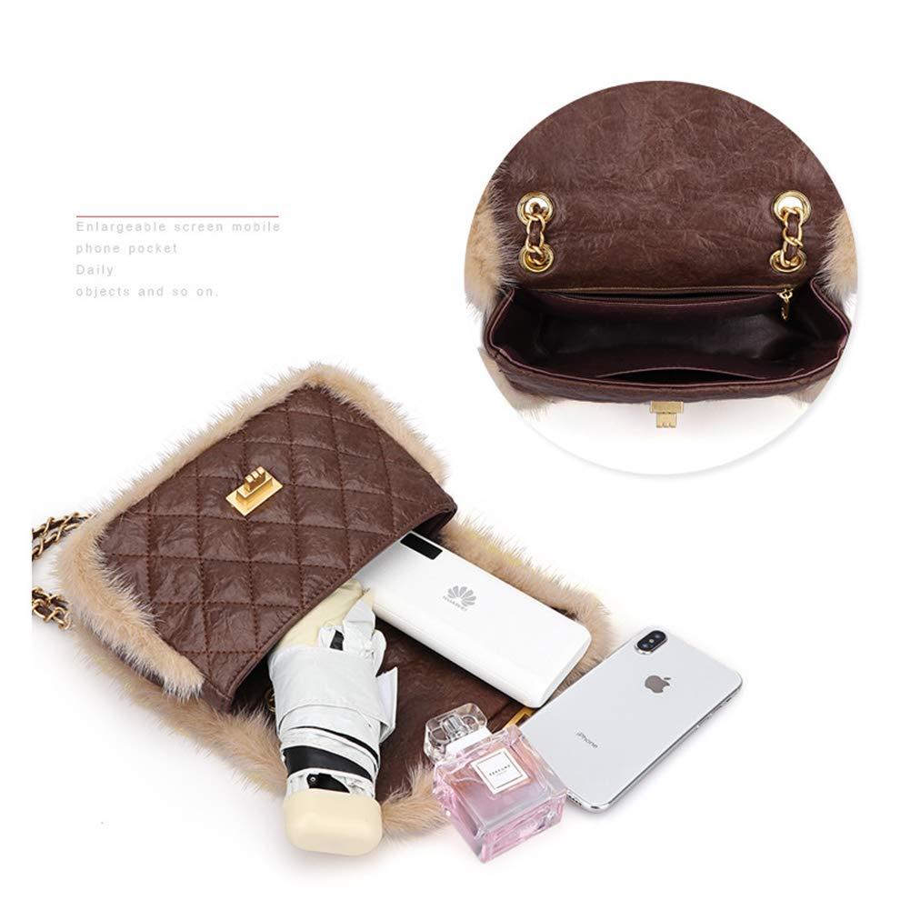 Höst och vinter handväskor av läder, mode lingge kedja väska Messenger 2