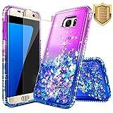 S7 Edge Case, Galaxy S7 Edge Glitter Case w/[Full Coverage...