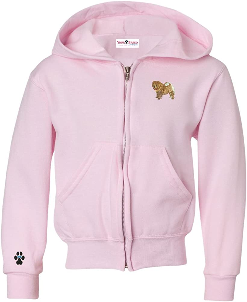 YourBreed Clothing Company Chow Chow Youth Full Zip Hooded Sweatshirt