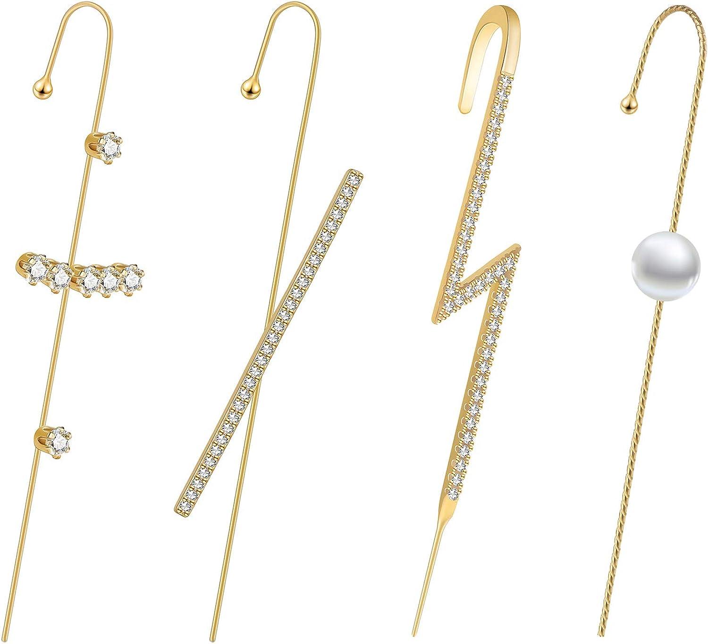 Gothic Cobra Ear Cuff Hook Ear Studs Clip Earrings Wrap Cartilage Jewelry DP