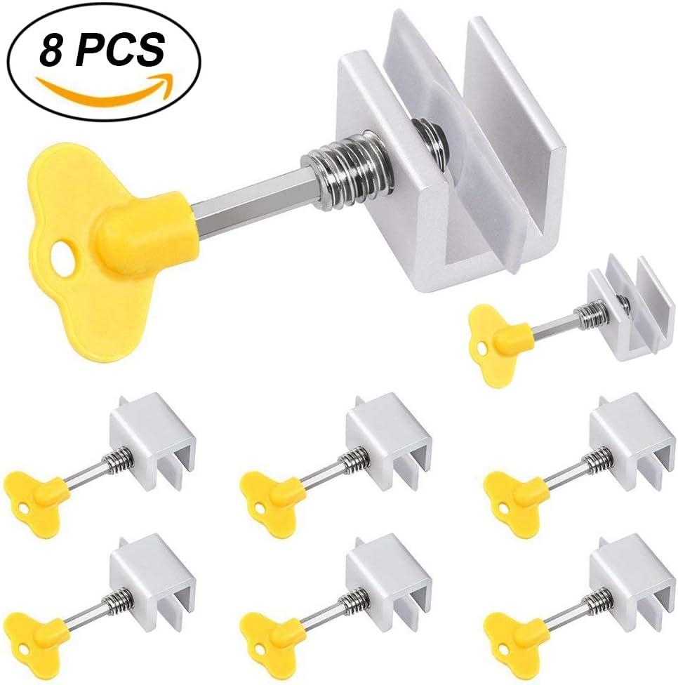 8 piezas de seguros deslizantes ajustables de aleación de aluminio ...