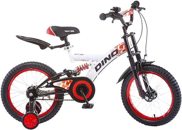 Bicicleta 18 Pulgadas 4-5-6-7-8 años de Edad Cochecito Bicicleta niño Bicicleta de montaña 1300 * 190 * 690mm (Color : Red White): Amazon.es: Hogar