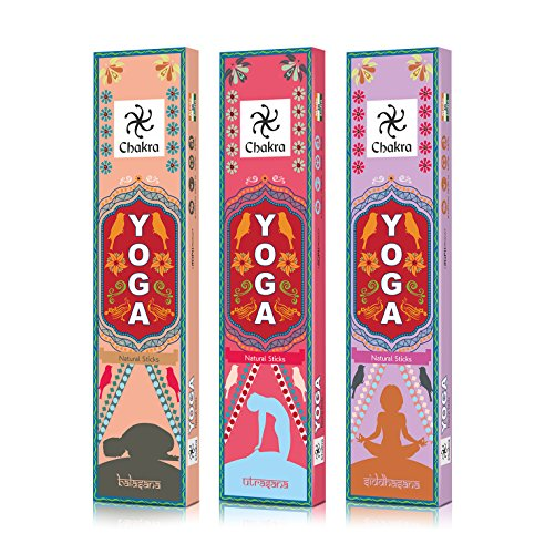 Yoga Natural and Hand Made Incense Sticks - 12 Fragrances for 12 Asanas - Made from Natural Essential Oils And Herbal Products - 12 Packs (10 Sticks Per Pack) - incensecentral.us