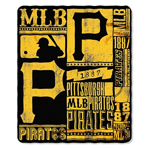 MLB Pittsburgh Pirates Strength Printed Fleece Throw, 50-inch by 60-inch (Fleece Pirates Team Pittsburgh)