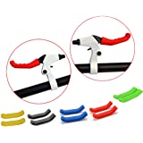 PAIR OF COLOURED BRAKE LEVER GRIPS PROTECTORS COVERS MOUNTAIN BIKE BMX MTB FIXIE