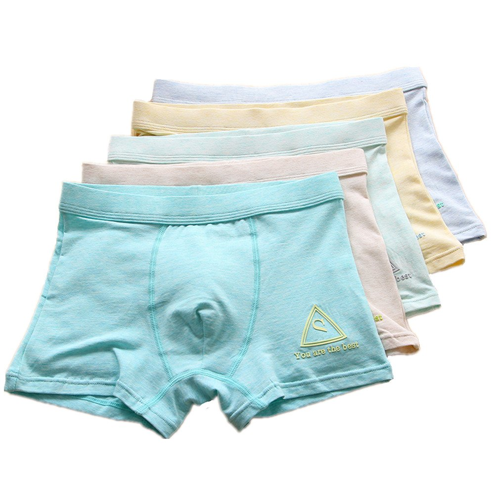 Big Boys' 5-Pack Boxer Briefs Cotton Shorts Underwear CzBonjour