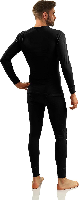 Sesto Senso/® Homme Ensemble sous-v/êtements Coton 95/% Maillot de Corps Longes Manches et Pantalon Long Thermique