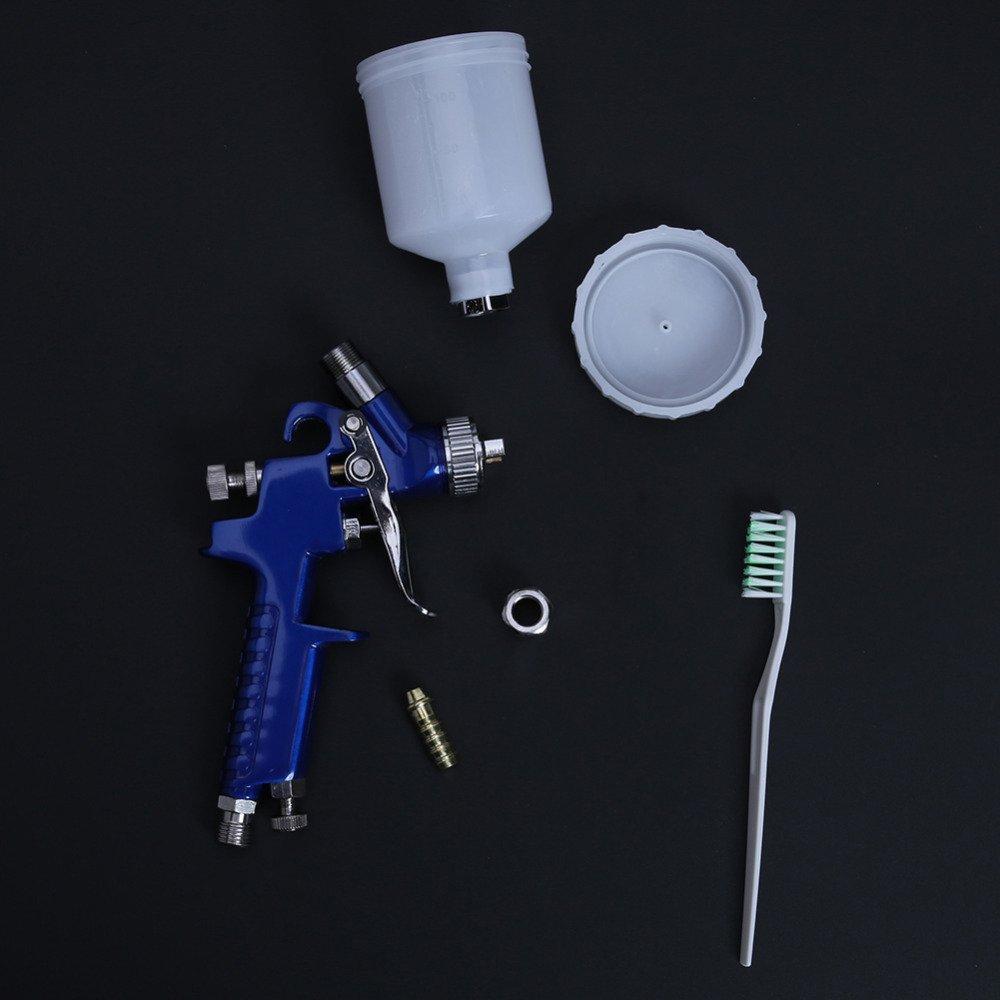 AMZVASO - 0.8MM/1.0MM Nozzle H-2000 HVLP Spray Gun For Painting Car Professional Mini Air Paint Guns Airbrush Aerograph