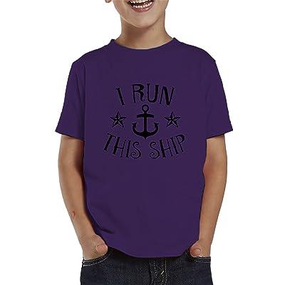 I Run This Ship Toddler T-Shirt, SpiritForged Apparel
