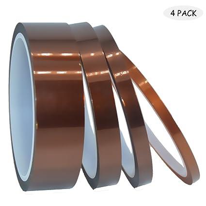 Baoiie - Cinta adhesiva de alta temperatura resistente al calor, 4 ...