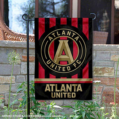 (Wincraft Atlanta United Football Club Jersey Stripe Double Sided Garden Flag)