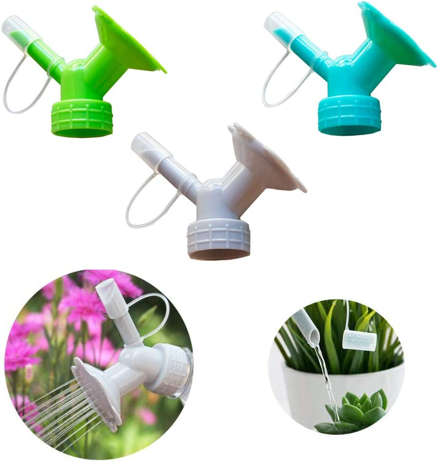 MHY 3PCS Bottle Cap Sprinkler, Plastic Double Ended Bottle Watering Nozzle, Indoor Tree and Plant 2 in 1 Watering Can, Home Garden Sprinkler Accessories